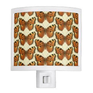 Orange and Black Butterflies Pattern Nite Light