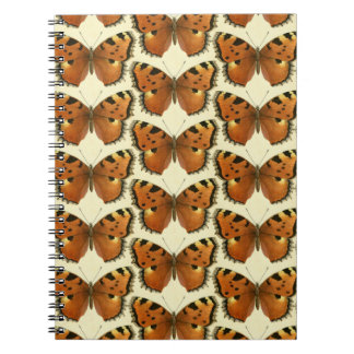 Orange and Black Butterflies Pattern Notebook
