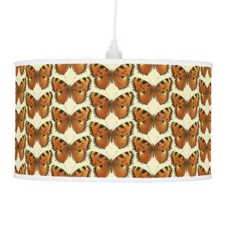 Orange and Black Butterflies Pattern Pendant Lamp