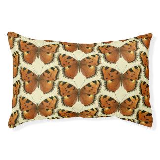 Orange and Black Butterflies Pattern Pet Bed
