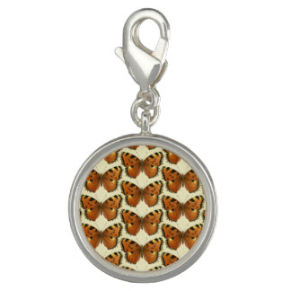 Orange and Black Butterflies Pattern Photo Charms