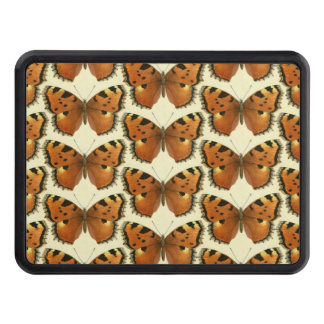 Orange and Black Butterflies Pattern Trailer Hitch Cover