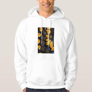 Orange and black butterfly wing hoodie
