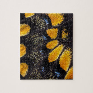Orange and black butterfly wing jigsaw puzzle