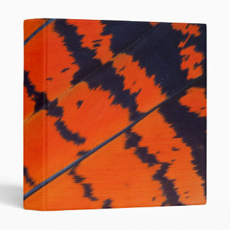 Orange And Black Cockatoo Feathers 3 Ring Binders