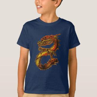 Orange and Black Dragon Art T-Shirt