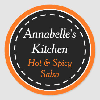Orange and Black Kitchen Halloween Stickers