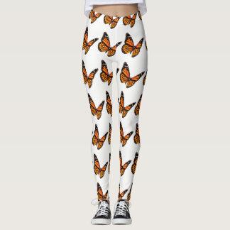 Orange and Black Monarch Butterfly Leggings