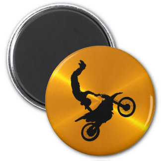 Orange and Black MotoCross Magnet
