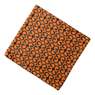 Orange and BLack Pattern Bandana
