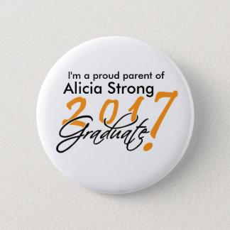 Orange and Black Proud Graduate Pin