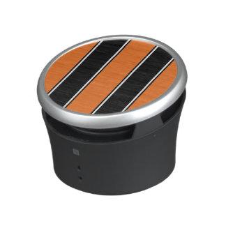 Orange and Black-Striped Bluetooth Speaker