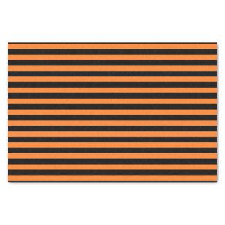 Orange and Black Stripes Tissue Paper