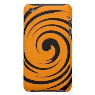 Orange and black swirl iPod touch Case-Mate case