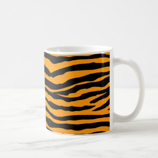Orange and Black Tiger Stripes Coffee Mug