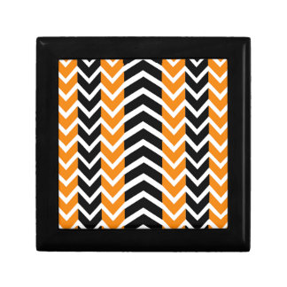 Orange and Black Whale Chevron Gift Box