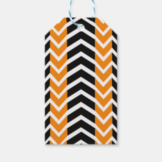 Orange and Black Whale Chevron Gift Tags