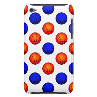 Orange and Blue Basketball Pattern iPod Touch Case-Mate Case