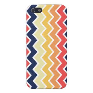 Orange And Blue Chevron Geometric Designs Color iPhone 5 Covers