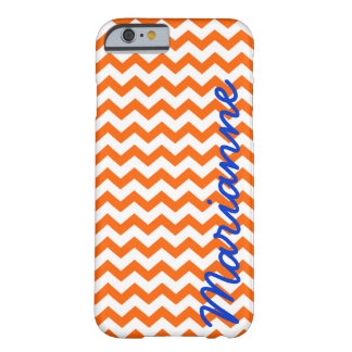 Orange and Blue Chevron iPhone 6 Case w/ Name