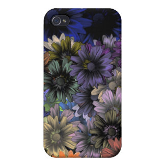 Orange and blue floral cases for iPhone 4