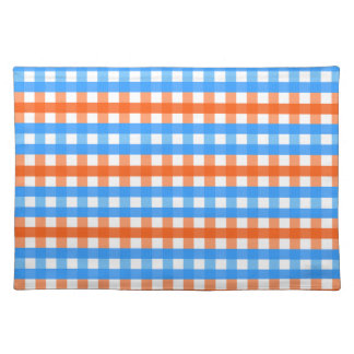 Orange and Blue Gingham Placemat