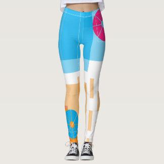 Orange and blue Leggings