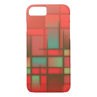 Orange and Blue Mondrian Pattern iPhone 8/7 Case