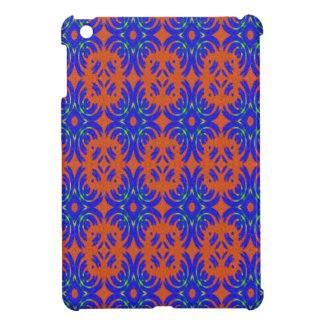 Orange and blue pattern case for the iPad mini