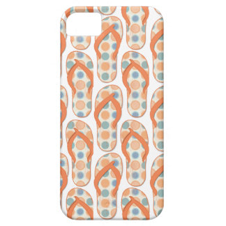 Orange and blue Polka dotted flip flops iPhone 5 Covers