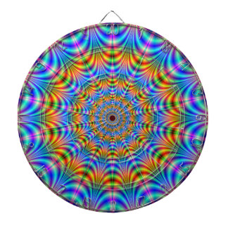 Orange and Blue Psychedelic Rings Dartboard