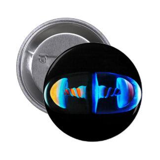 Orange and Blue Shroom Capsule 2 Inch Round Button