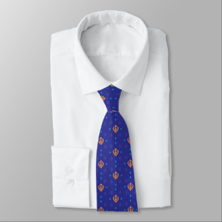 Orange and Blue Sikh Khanda Tie
