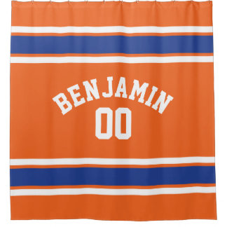 Orange and Blue Sports Jersey Stripes