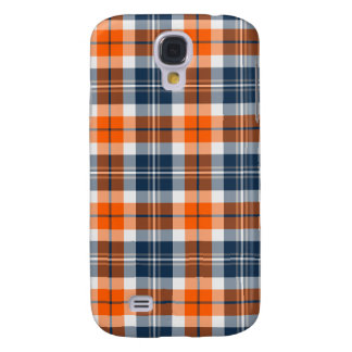 Orange and Blue Sporty Plaid