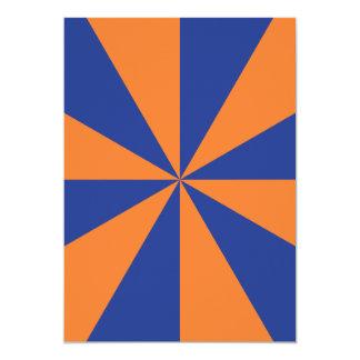 Orange and Blue Starburst Card