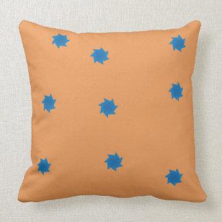 Orange and Blue Stars Pillow