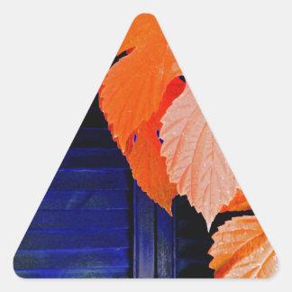 Orange and Blue Triangle Sticker
