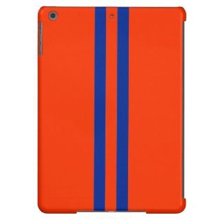 Orange and Blue stripes pattern iPad Air Cases
