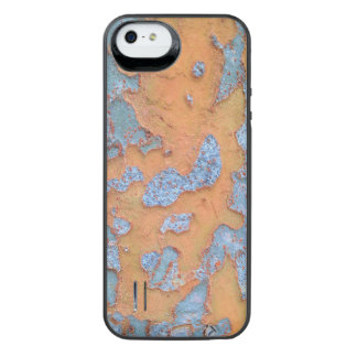 Orange and Blue Tree Bark iPhone SE/5/5s Battery Case