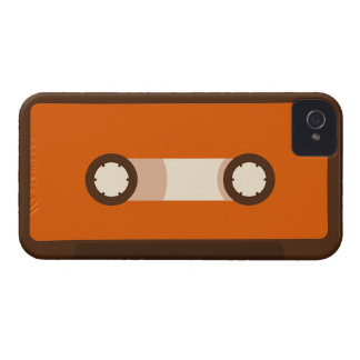 Orange and Brown Retro Cassette Tape iPhone 4 Case