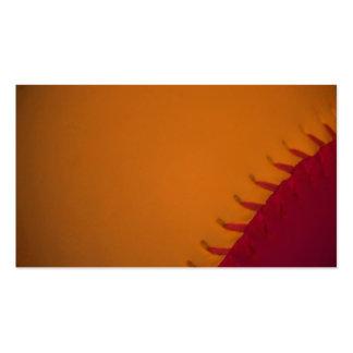 Orange and Dark Red Baseball Business Cards