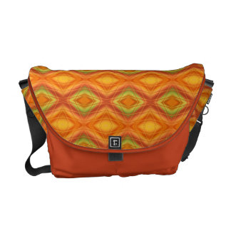Orange And Green Abstract Pattern Messenger Bag