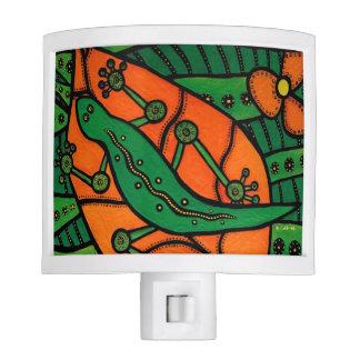 Orange And Green Gecko Lizard Night Lites