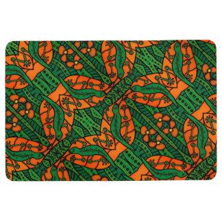 Orange And Green Lizards Gecko Pattern Floor Mat