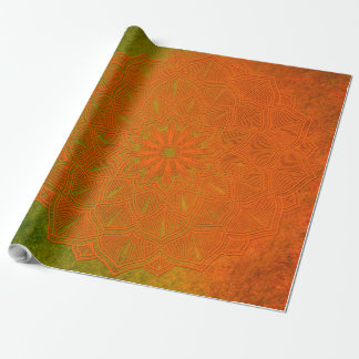 Orange and Green Mandala Gift Wrap