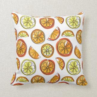 Orange and Lemon Pillow - Fruit Cup