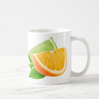Orange and lime coffee mug