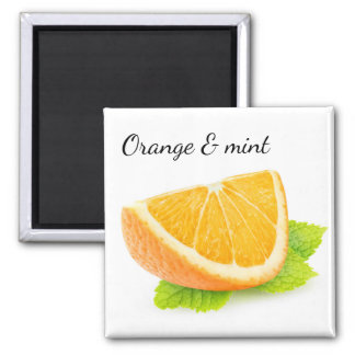 Orange and mint magnet