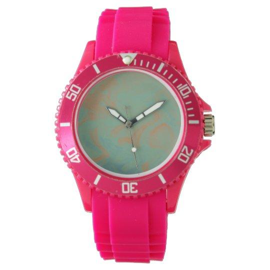Orange and Mint Ti-Dye Wristwatches